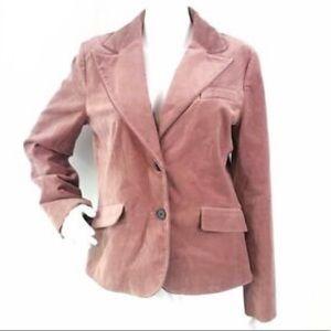 Ann Taylor dusty pink velvet blazer jacket